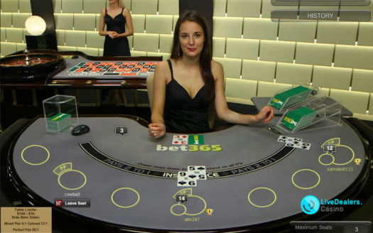 Private live blackjack tables