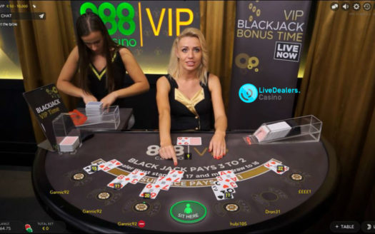 Private live VIP blackjack tables...888 brand (by Evolution Gaming)