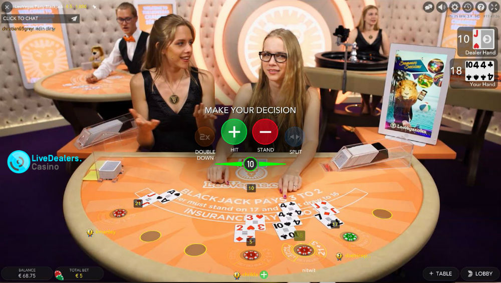 Online webcam blackjack