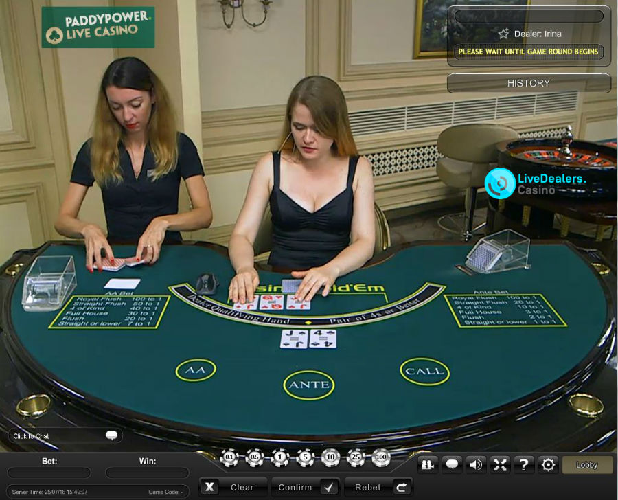 Paddy Power Live Livedealers Casino