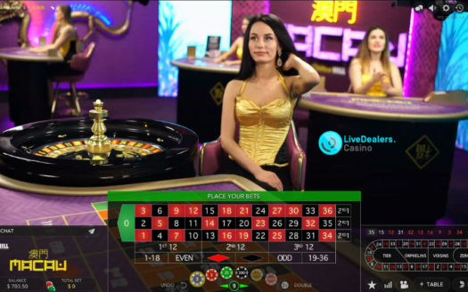 Private roulette table in the Macau Room (by Evolution Gaming)